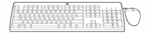 Kit de Teclado y Mouse HP 631341-B21, USB, Negro (Inglés)