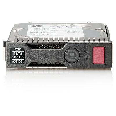 Disco Duro para Servidor HPE 500GB 6G SATA Hot Plug 7200RPM LFF 3.5'', SC Midline, 1 Año de Garantía