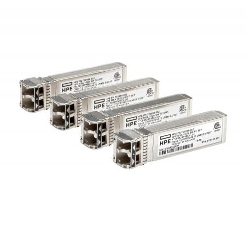 HPE Módulo Transceptor MSA 16Gb SFP+, 16000 Mbit/s, LC Multimodo, 850nm, 4 Piezas