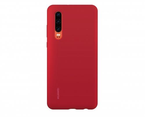 Huawei Funda 51992848 para P30, Rojo, Resistente a Rayones/Golpes