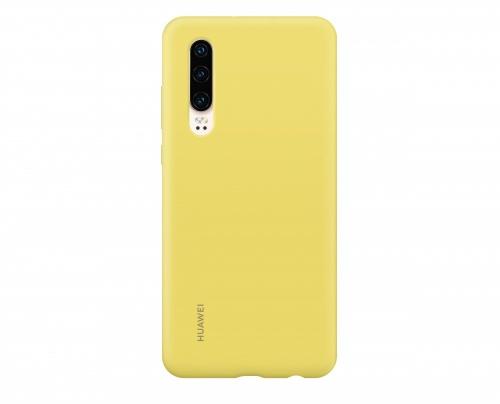 Huawei Funda 51992852 para P30, Amarillo, Resistente a Rayones/Golpes