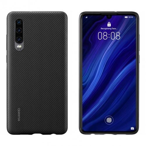 Huawei Funda 51992992 para P30, Negro, Resistente a Rayones/Golpes