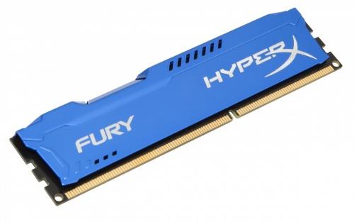 Memoria RAM Kingston HyperX FURY Blue DDR3, 1600MHz, 4GB, Non-ECC, CL10