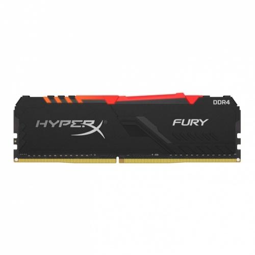 Memoria RAM HyperX FURY RGB DDR4, 2400MHz, 8GB, CL15, XMP