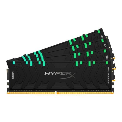 Kit Memoria RAM Kingston Predator RGB DDR4, 3200MHz, 64GB (4 x 16GB), Non-ECC, CL16, XMP