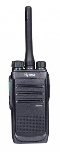 Hytera Radio Análogo Portátil de 2 Vías BD506V, 48 Canales, Negro