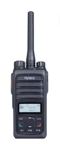 Hytera Radio Digital Portátil de 2 Vías PD566, 512 Canales, Negro