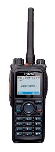 Hytera Radio Digital Portátil de 2 Vías PD786-UHF-MD, 1024 Canales, Negro