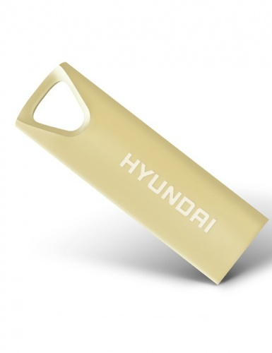 Memoria USB Hyundai Bravo Deluxe, 16GB, USB 2.0, Oro