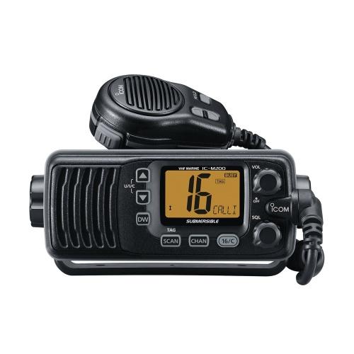 ICOM Radio Móvil Marino de 2 Vías IC-M200/03, Negro