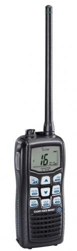 ICOM Radio Análogo Portátil de 2 Vías M36, 16 Canales, Negro
