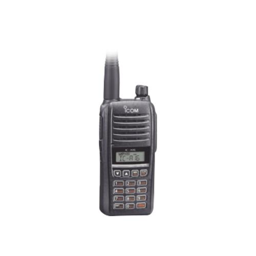 ICOM Radio Análogo Portátil de 2 Vías IC-A16/21, 200 Canales, Negro
