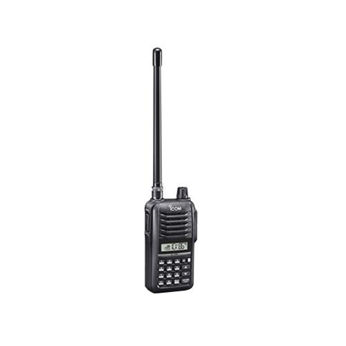 ICOM Radio Análogo Portátil de 2 Vías ICV86, 207 Canales, Negro