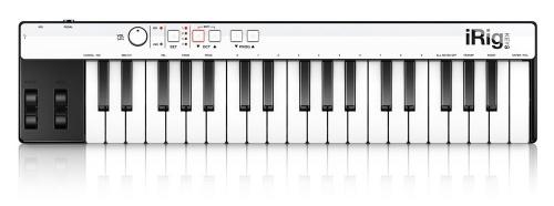 IK Multimedia iRig Keys Teclado MIDI, 37 Teclas, Lightning/USB, Negro/Blanco