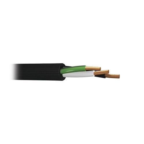 Indiana Bobina de Cable de Señal Uso Rudo Calibre 10, 100m, Negro