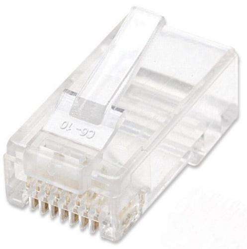Intellinet Plug RJ-45 Cat5e UTP Sólido, Transparente, 1 Pieza