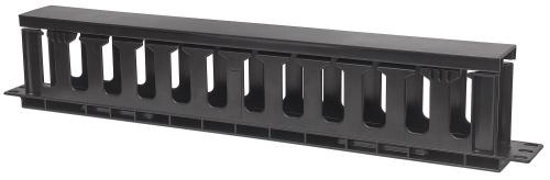 Intellinet Organizador de Cables Horizontal, 1U, RJ-45, Negro