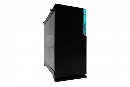 Gabinete In Win 101C con Ventana RGB, Midi-Tower, ATX/Micro ATX/Mini-ITX, USB 3.2/USB-C, sin Fuente, Negro