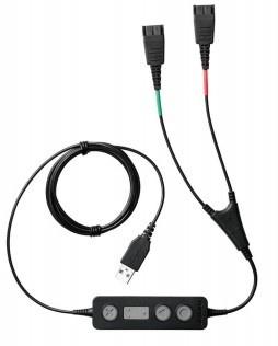 Jabra Cable Adaptador Link 265, USB Macho - 2x QD, Negro
