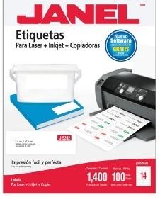 Janel Etiquetas Adhesivas 1095262101, 34x102mm, 1400 Etiquetas