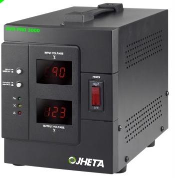 Regulador Jheta AVR PRO 3000, 1600W, 3000VA, Entrada 120 V, Salida 85-149V, 4 Contactos