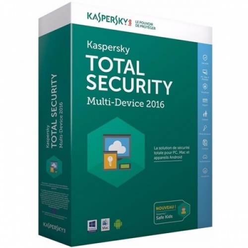 Kaspersky Total Security 2016, 4 Usuarios, 1 año, Windows