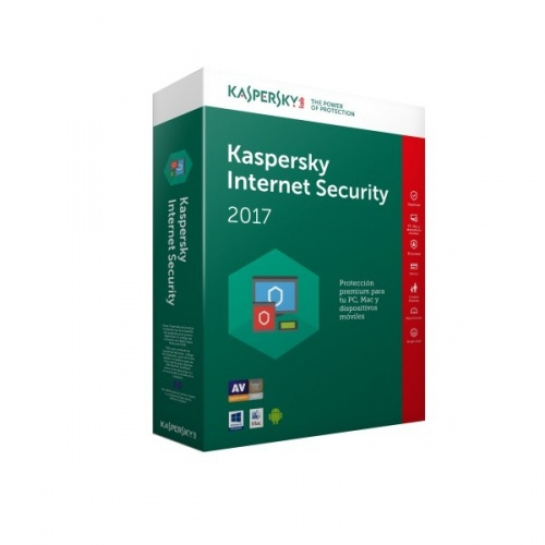 Kaspersky Lab Internet Security 2017, 3 Usuarios, 1 Año, Windows