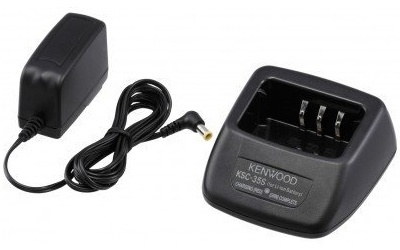 Kenwood Cargador de Baterías para Radio KSC-35SK, Negro, para Kenwood