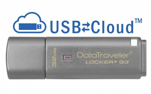 Memoria USB Kingston DataTraveler Locker+ G3, 32GB, USB 3.0, Plata