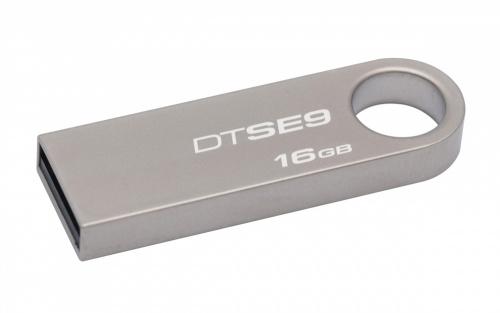 Memoria USB Kingston DataTraveler SE9, 16GB, USB 2.0, Plata