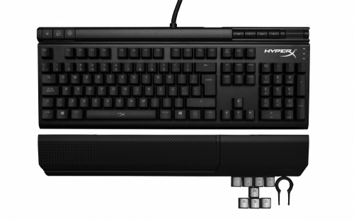 Teclado Gamer Kingston HyperX Alloy Elite LED Rojo, Teclado Mecanico, Cherry MX Red, Alámbrico, Negro (Español)