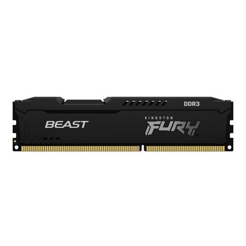 Memoria RAM Kingston FURY Beast Black DDR3, 1600MHz, 4GB, Non-ECC, CL10