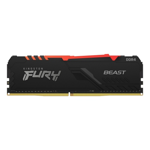 Memoria RAM Kingston FURY Beast Black RGB DDR4, 3200MHz, 8GB, Non-ECC, CL16, XMP