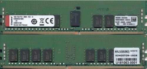 Memoria RAM Kingston Server Premier DDR4, 2666MHz, 16GB, ECC, CL19