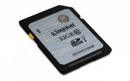 Memoria Flash Kingston, 32GB SDHC UHS-I Clase 10, Lectura 45 MB/s