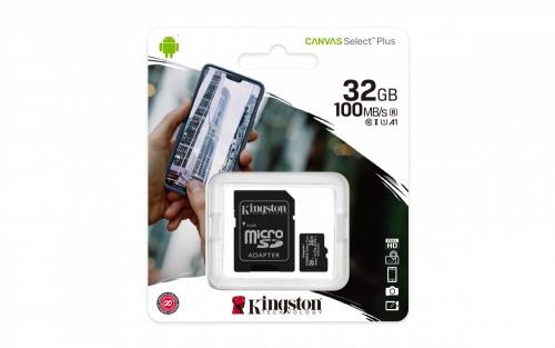 Kingston 32GB Canvas Select Class 10 SDHC Memory Card UHS-I U1