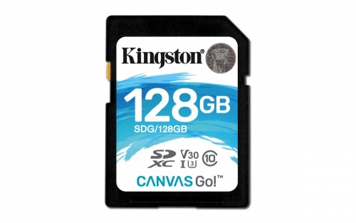 Memoria Flash Kingston Canvas Go!, 128GB SDXC UHS-I Clase 10