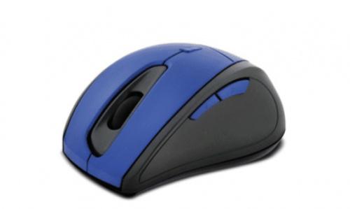 Mouse Klip Xtreme Óptico KMW-356BL, Inalámbrico, USB, 1600DPI, Azul/Negro