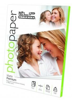 Klip Xtreme Papel Fotográfico Premium Mate 190g/m², 50 Hojas A4, Blanco
