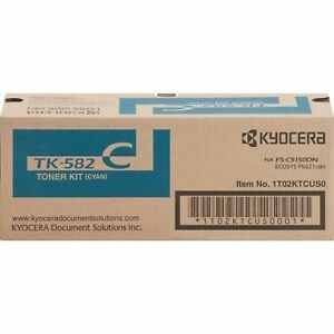 Tóner Kyocera TK-582C Cyan, 2500 Páginas