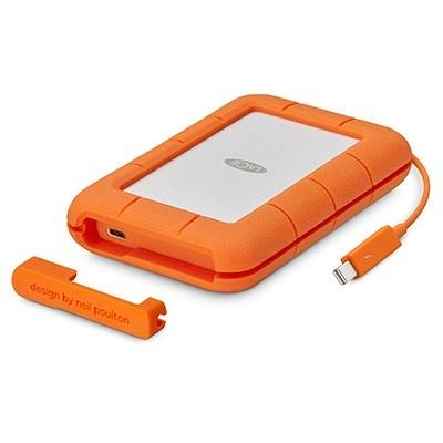 Disco Duro Externo LaCie Rugged Thunderbolt USB-C 2.5'', 4TB, USB C 3.0, Blanco/Naranja - para Mac/PC ― ¡Compre y reciba $150 pesos de saldo para su siguiente pedido!