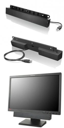 Lenovo Barra de Sonido, Alámbrico, 2.5W, USB, Negro