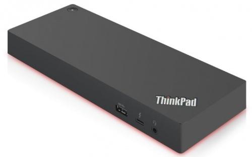 Lenovo Docking Station 40AN0135US Thunderbolt 3, 5x USB 3.0, 1x USB-C, 2x HDMI/2x DisplayPort/1x RJ-45, Negro