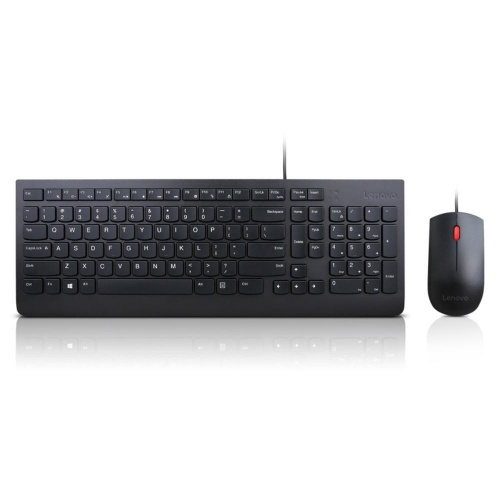 Kit de Teclado y Mouse Lenovo 4X30L79883, Alámbrico, USB, Negro (Inglés)