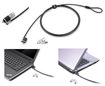 Lenovo Candado de Llave para Laptop 57Y4303, 1.52 Metros