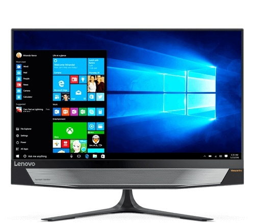 "Lenovo IdeaCentre 720 All-in-One 23.8"", Intel Core i5-7400 3GHz, 8GB, 2TB, NVIDIA GeForce GTX 960A, Windows 10 Home 64-bit, Negro"