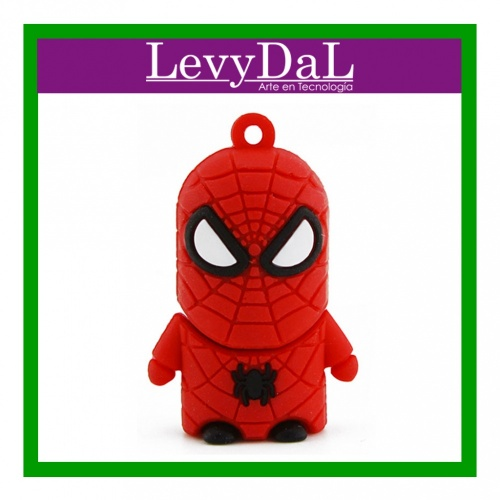Memoria USB LevyDal Spiderman, 16GB, USB 2.0, Rojo