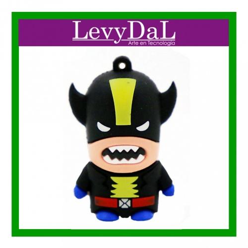 Memoria USB LevyDal Wolverine, 16GB,  USB 2.0, Negro/Amarillo