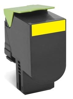 Toner Lexmark 70C80Y0 Amarillo, 1000 Páginas