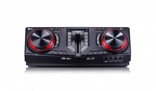 LG CJ87 Mini Componente, Bluetooth, 2350W, USB 2.0, Karaoke, Negro